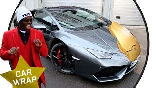 Download Comedy Shorts Gamer's EPIC Lamborghini Huracan Chrome Gold Wrap Video
