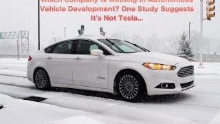 Download Which Company Is Winning In Autonomous Vehicle Development? One Study Suggests It's Not Tesla... Video