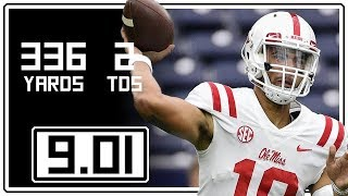 Download Jordan Ta'amu Full Highlights Ole Miss vs Texas Tech    9.01.18    336 Yards, 2 TDs Video