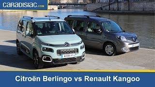 Download Comparatif statique - Citroën Berlingo (2018) vs Renault Kangoo : la revanche des ludospaces. Video