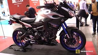 Download 2015 Yamaha MT09 Tracer customized by Puig - Walkaround - 2015 EICMA Milan Video