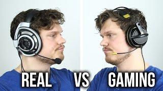 Download Real vs Gaming Headphones?! Video