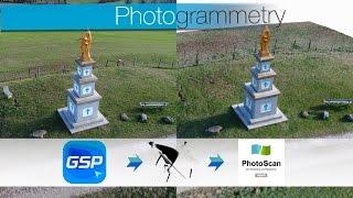Download DJI GS PRO - PhotoScan / process complet de photogrammétrie Video