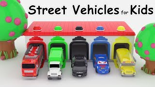Download Car for kids Colors for Children to Learn with Street Vehicles Colours for Kids to Learn video Video