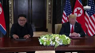 Download President Trump and North Korean Leader Kim Jong Un Signs a Declaration of Friendship Video