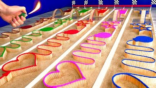 Download MATCH Colors RACE! Which COLOR Burns the BEST? Video