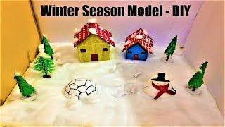 Download winter season model for school project easy | science school exhibition Video