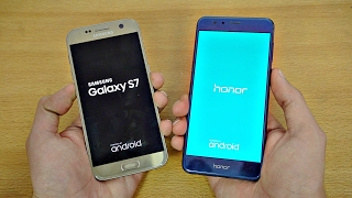 Download Samsung Galaxy S7 OFFICIAL Android 7.0 Nougat vs Huawei Honor 8 - Speed Test! Video