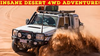 Download NO TRACK, NO MAP - Insane Desert 4WD Adventure! Tough 4x4s + 6x6 Chopped 200 Series forge new track! Video