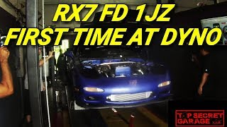 Download RX7 FD 1JZ GT3076R HITS THE DYNO- FIRST TIME Video