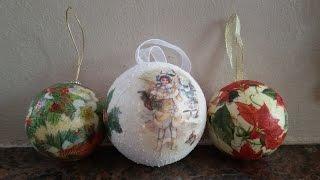 Download Tutorial sfere in polistirolo come decorazione per l'albero di natale Tutorial christmas balls Video