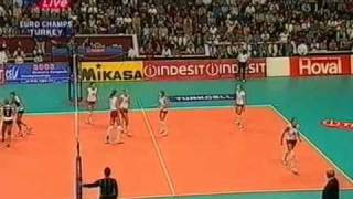 Download Russia vs Turquia Final European Championship 2003 volleyball Video