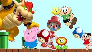 Download GEORGE PIG MONICA PATATI E CEBOLINHA encontra KOPPA no mundo do MARIO BROS em portugues Video