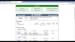 Download HOW TO FIND A ISSUE TICKET NUMBER OR PNR OR BOOKING ON AIR BLUE IN URDU PART 4 Video