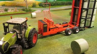 Download RC TRACTOR with BALE LOADER /Rc toy action Video
