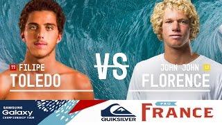 Download Filipe Toledo vs. John John Florence - Quiksilver Pro France 2016 Quarterfinals Video