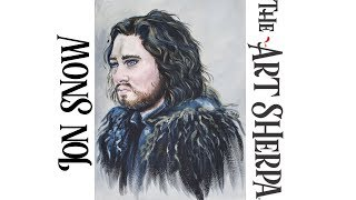 Download How to paint Jon Snow in acrylic on Canvas PART #1 About Face 21 LIVE Video