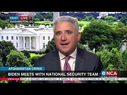 Afghanistan Crisis   Biden meets with national security team