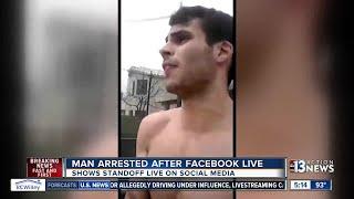 Download Man posts Facebook Live video during arrest for bomb threat Video