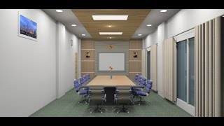 Download Sketchup tutorial interior design make a Meeting room Video