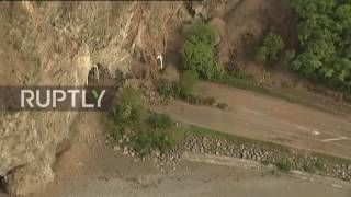 Download New Zealand: Helicopter footage shows quake damage along Kaikoura coastline Video