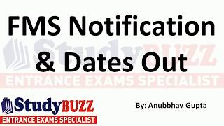Download FMS forms out - Important dates, cut offs, fees structure, eligibility, number of seats Video