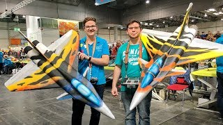 Download 2 RC RAFALE LIGHTWEIGHT SCALE MODEL JETS INDOOR FLIGHT / Intermodellbau 2017 Video
