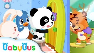 Download ❤ Don't Open The Door For Strangers | Animation For Babies | BabyBus | Baby Panda Video