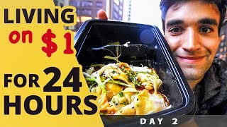 Download LIVING on $1 for 24 HOURS in NYC! (Day #2) Video