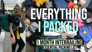 Download Everything I Packed for Month Of Interrailing Solo (Only 40L Rucksack!) Video