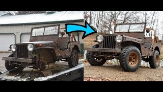 Download Reviving a dead Willys Jeep CJ2A Video