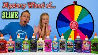 Download 3 COLORS OF GLUE MYSTERY WHEEL OF SLIME CHALLENGE!!! All New Colors! Video