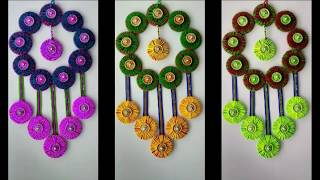 Download DIY - AWESOME WALL HANGING TORAN MAKING FROM HAIRBANDS \\HOW TO MAKE WALL HANGING TORAN FROM WOOLEN Video