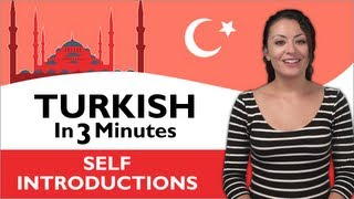 Download Learn Turkish - Turkish in Three Minutes - How to Introduce Yourself in Turkish Video