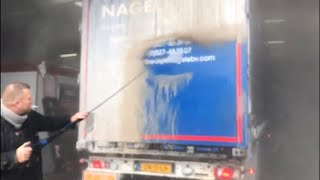 Download AMAZING! Non Contact DAF Truck Wash, JUST WATCH! No brushes or sponges needed, ProNano HQ Washing Video