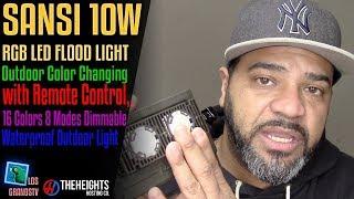 Download Sansi 10W RGB LED Landscape Lights with Remote Control💡 : LGTV Review Video