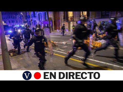 Quinto día de protestas por Hasél en Barcelona