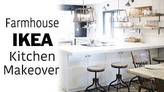 Download White Ikea Kitchen Tour & Room Makeover, Modern, Farmhouse, Industrial Design, DIY Renovation Video