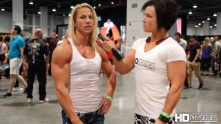 Download Awesome Biceps - Jen Louwagie, IFBB Physique Pro, Intervew - 2016 Olympia Expo Video