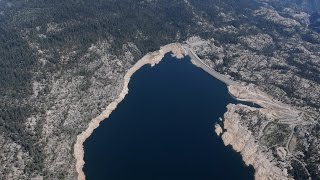 Download Dramatic before and after of drought in California's Sierra National Forest Video