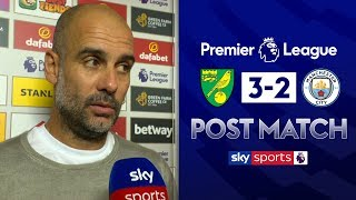 Download Pep wants improvement to central defence partnership | Guardiola Post Match | Norwich 3-2 Man City Video