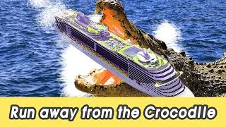 Download [EN] Run away from the crocodile! learn animals names, animals for kids, CollectaㅣCoCosToy Video
