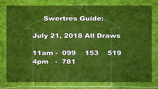 Download Swertres Guide : July 21, 2018 Video