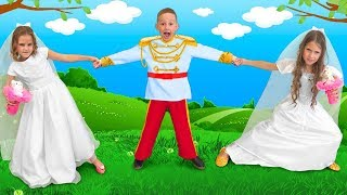 Download Masha and Katya want to Marry a Prince and do not Share a Wedding Dress Video