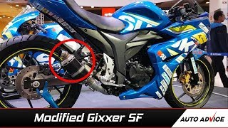 Download Modified Suzuki Gixxer SF -Auto expo 2018 Video