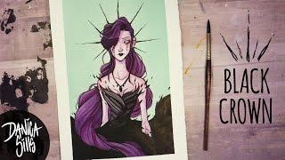 Download The Black Crown ♦ Watercolor Speedpaint ♦ Artwork Video