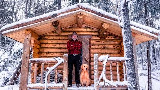 Download Building a Sauna Cabin with Logs in the Wilderness Alone with My Dog   Start to Finish Video