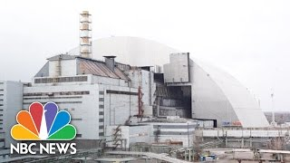 Download Giant Steel Hangar Built Over Chernobyl Nuclear Exclusion Zone | NBC News Video