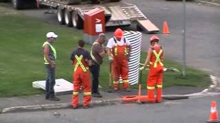 Download City Workers Digging a Hole Video