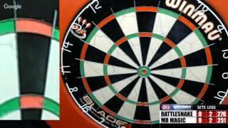 Download Rattlesnake vs Mr Magic -WDA darts Video